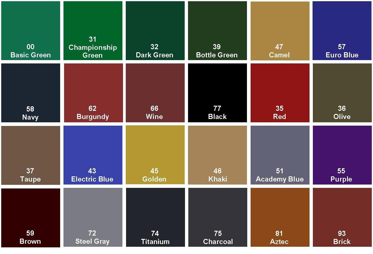 A Dispaly Of Different Pool Table Cloth Colors